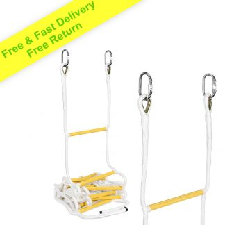ISOP Rope Ladder for Kids & Adults | Compact Portable Playground Rope Ladders – Climbing Outdoor & Indoor with Carabiners for Backyard – Multi-Functional