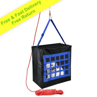 Fire Evacuation Device for Kids or Pets up to 35kg - 15m Rope & Carabiner Included - Escape Bag for Infants and Dogs