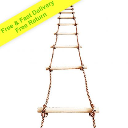 Tree Climbing Rope Ladder for Kids 16ft (5m) or Adults