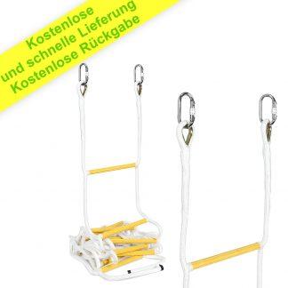 Klettern Hängendes Außen- und Innenseil mit Haken für Kinder und Erwachsene - Multifunktionale und wiederverwendbare Strickleiter