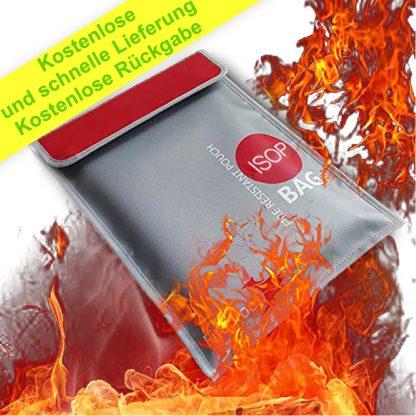 Feuerfeste geldsichere Dokumententasche 28 x 38 cm Nicht juckende silikonbeschichtete feuerfeste wasserdichte Geldtasche Sichere Aufbewahrung für Geld, Dokumente, Schmuck und Reisepass