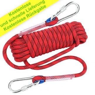 ISOP Sicherheitsseil 10 m für Fitness und Kraft 8 mm - Training - Übung - Fitnessstudio oder Baumhaus - Multifunktionales Abseilseil