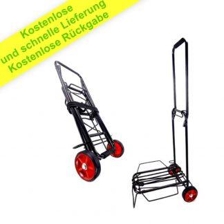 Zusammenklappbarer Leichtester Einkaufswagen - Handklappbarer Eisenwagen, Tragbar Leicht - Einfach zu Bedienen, Solide Konstruktion - 2 Räder, Gewichtskapazität 50 kg, Elastisch Inklusive