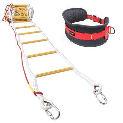Escalera de Emergencia para Cuerda de Escape Contra Incendios de 10 m con Cinturón 4