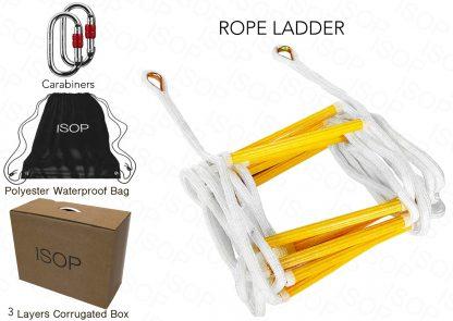 ISOP Escalera de Cuerda de 2,5 m para trepar a la casa del árbol 4