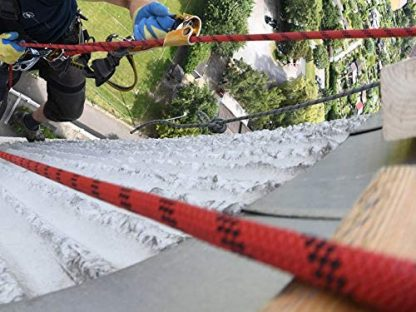 ISOP Cuerda de escalada interior exterior 23m 8mm con mosquetones 4