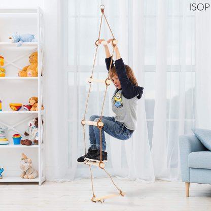 ISOP Escalera de Cuerda para Interiores o Exteriores para Niños o Adultos de 3 Metros 1