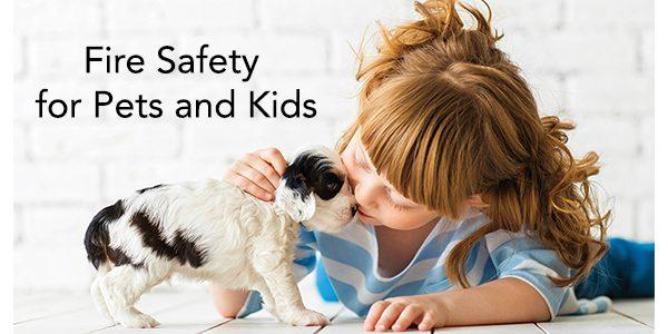 Seguridad contra incendios para mascotas y niños
