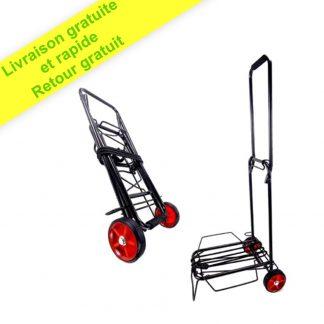 Chariot à roulettes Pliable Le Plus léger, 2 Roues, 45 kg, Noir, élastique Inclus