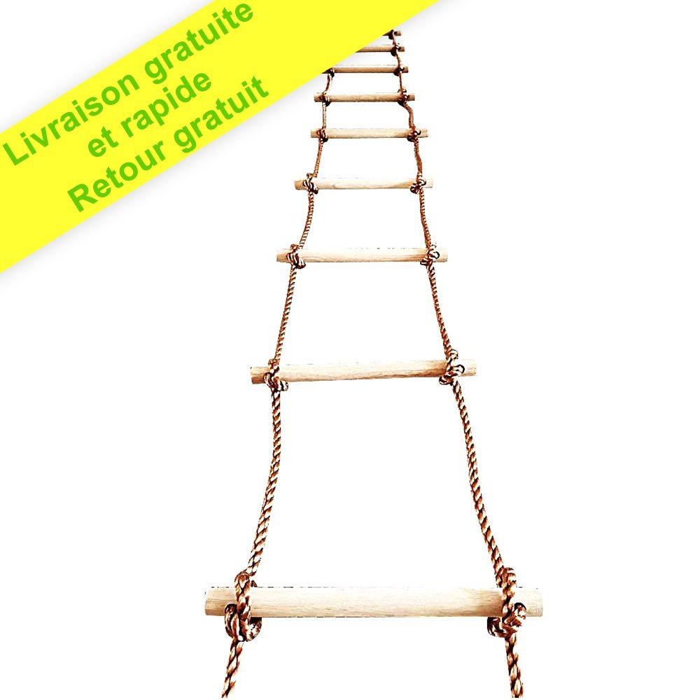 Échelle de corde d'escalade d'arbre 5 m