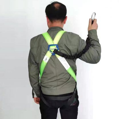 full body harness with lanyard back