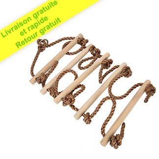 ISOP Accessoires d'extérieur   Échelle de corde à grimper pour enfants   2 m