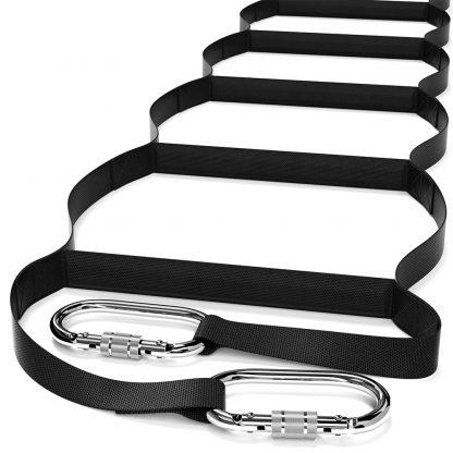 Échelle d'extension | Échelle de corde en nylon avec crochets à ressort - Léger, durable et compact - Peut contenir jusqu'à 460 lb. | Équipement d'évacuation d'urgence