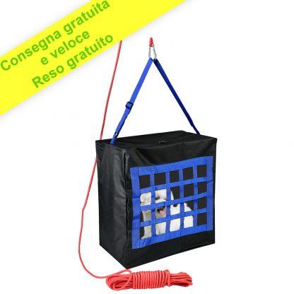 Dispositivo di Evacuazione del Fuoco per Bambini o Animali Domestici Fino a 35 kg - Corda di salvataggio e Borse per Cani e Gatti Grandi o Piccoli - Prodotto Salvavita