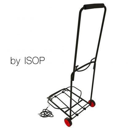 ISOP Carrello Pieghevole Leggero, 2 Ruote, 45 kg, Elastico Incluso 5