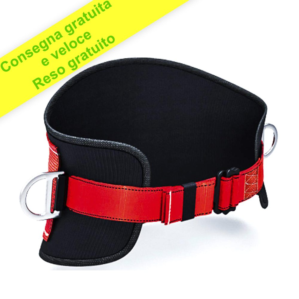 Cintura di Sicurezza con Cordino e Gancio - Cintura Anticaduta per Uomo Donna - 2d Anelli - Dimensione Universale