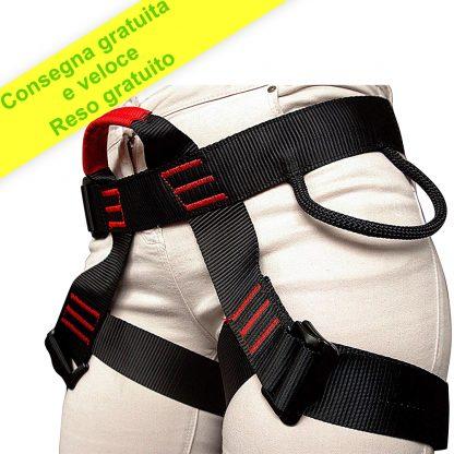 ISOP Imbracatura di Sicurezza con Cordino - Cintura di Protezione Anticaduta per Uomo Donna -2d Anelli