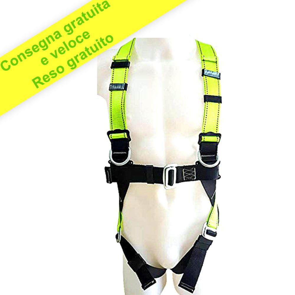 La cintura di Sicurezza Completa Dell'imbracatura Include Cordino e Gancio - Per Arrampicata Pittura Costruzione Albero Casa Arrampicata Protezione Anticaduta con pad Anca