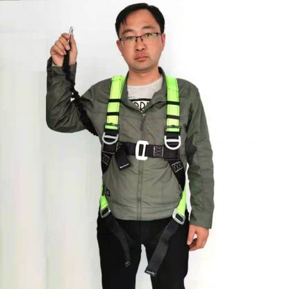 full body harness with lanyard front