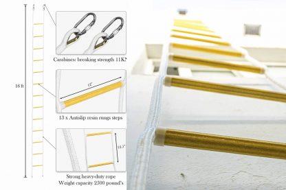 ISOP Brandtrap touwladder 2 verdiepingen 5 m 3