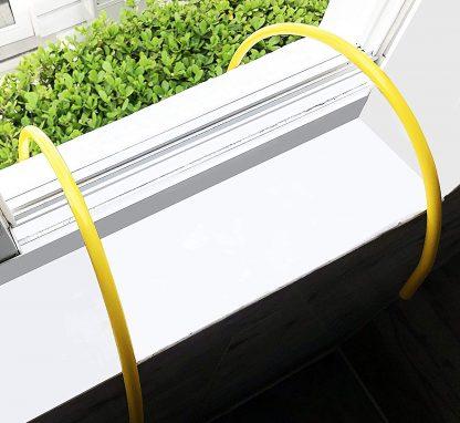 ISOP Brandtrap touwladder 4 m met haken 2 verdiepingen 3