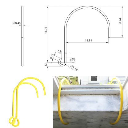 ISOP Brandtrap touwladder 4 m met haken 2 verdiepingen 5