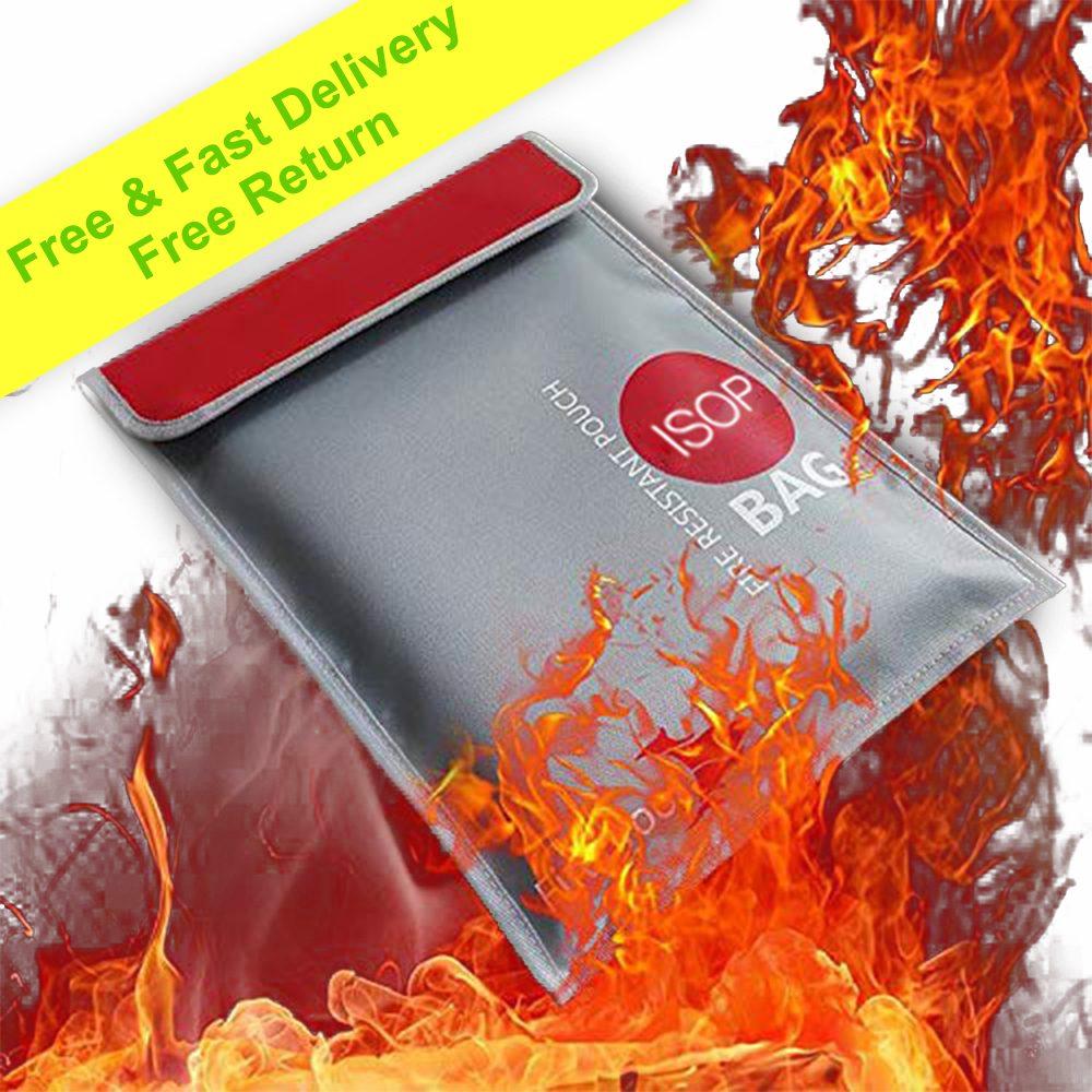 Brandwerende geldveilige documententas 38x28cm