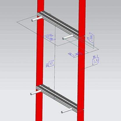 ISOP Brandtrapladders 4 m 2