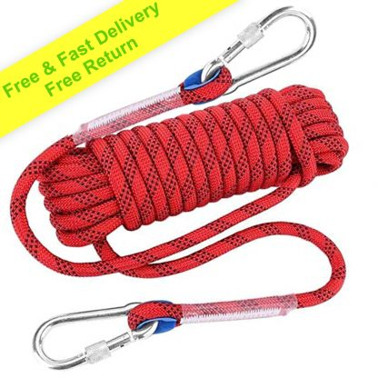 ISOP Climbing Rope 50ft (15m) 8mm for Outdoor Activity - Swing-set Accessories - Tree Climbing Sturdy Rope 1