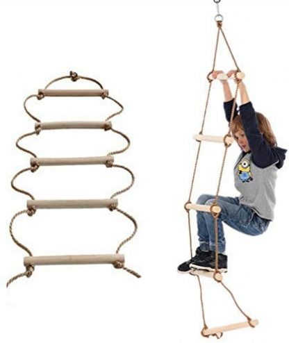 ISOP Outdoor Accessories - Climbing Rope Ladder for Kids 6ft (2m) 6