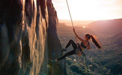 ISOP Outdoor indoor Climbing Rope 75ft (23m) 8mm with Carabiners 11