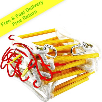 Fire Evacuation Rope Ladder 3-4 Story Homes 10m with Safety Cord 1