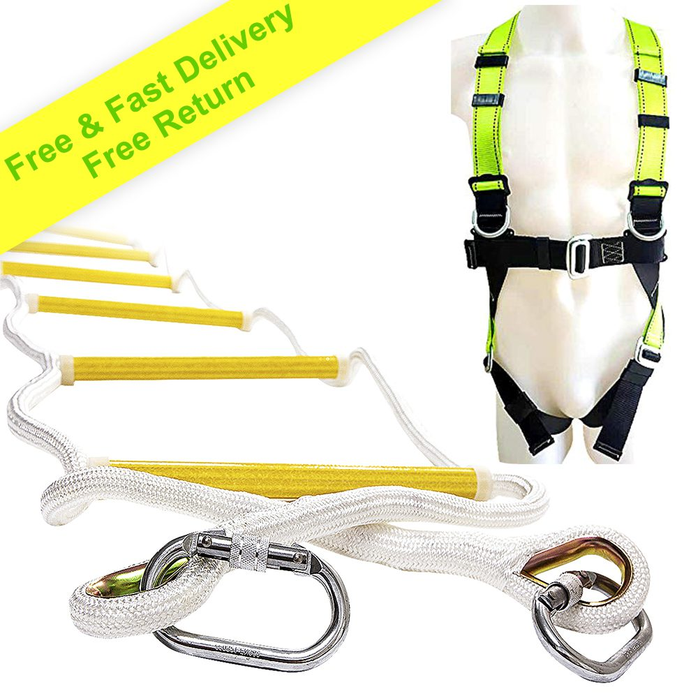 Rope Ladder 32 ft with Full Body Harness