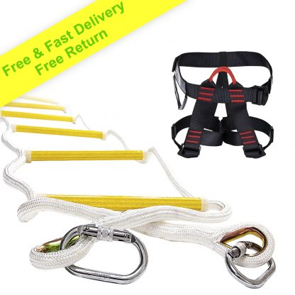 Rope Ladder 32 ft with Half Body Harness