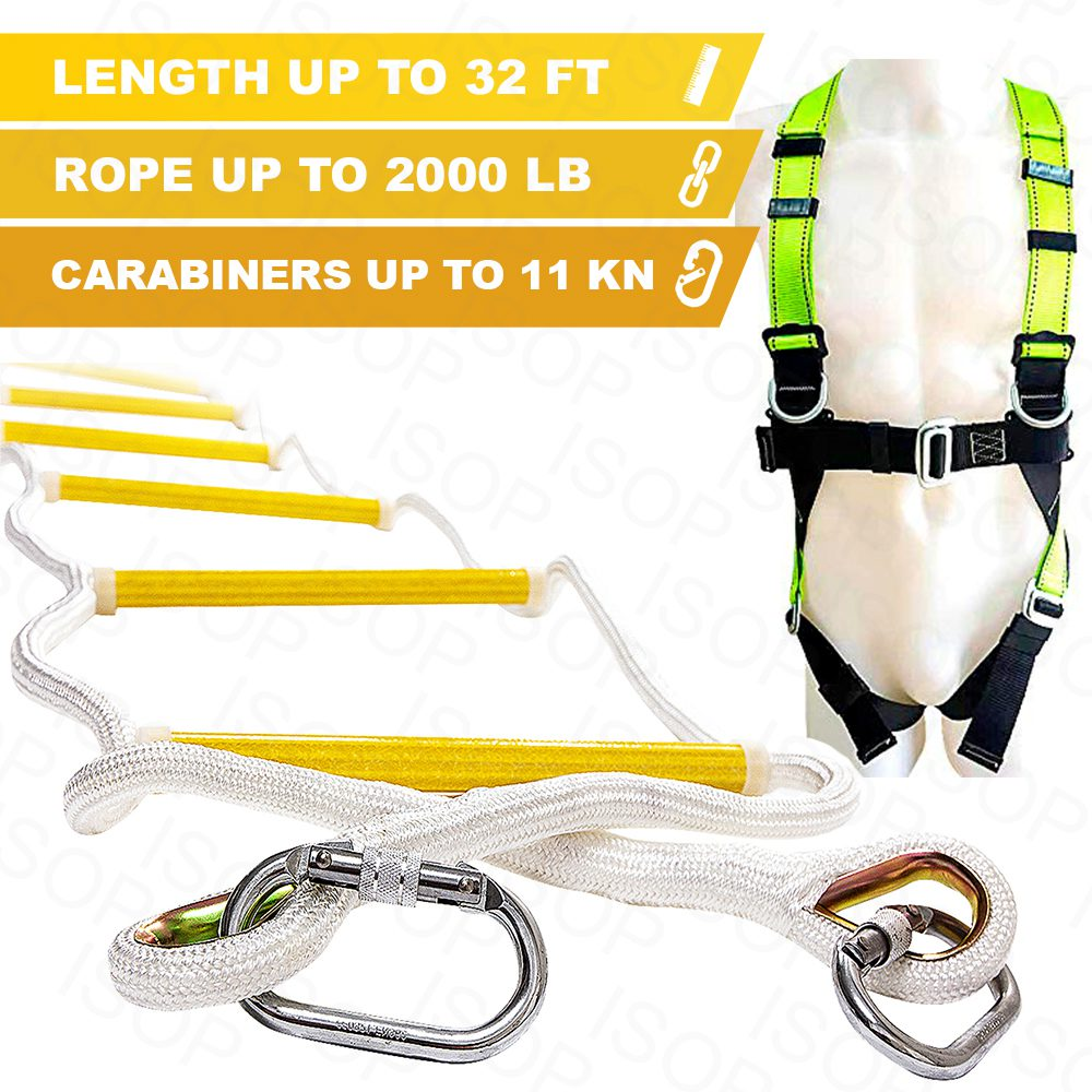 Rope Ladders for Fire Escape for up to 5th Story, Personal Protective Equipment 10